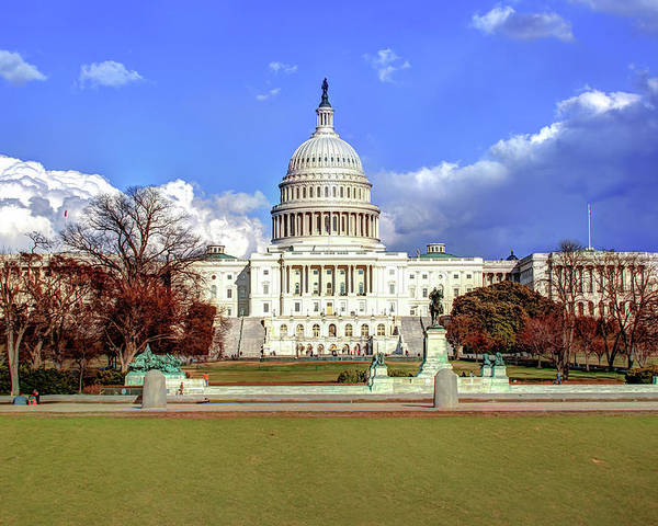 Capital Poster featuring the photograph Washington Dc Capitol Building by Gregory Ballos