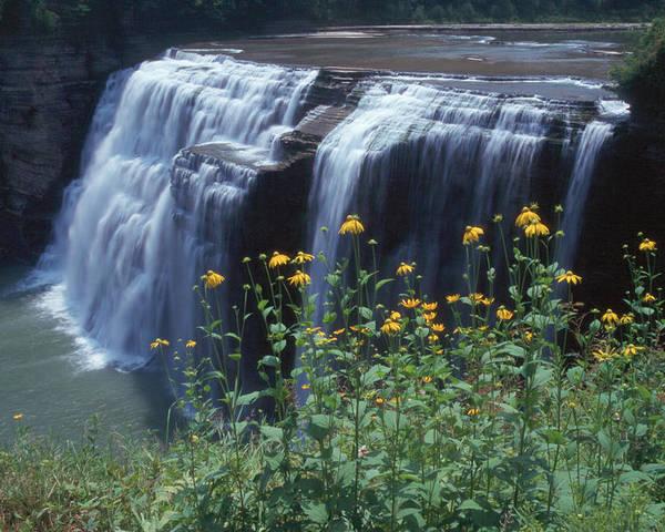 Waterfalls Poster featuring the photograph Water Falls by Raju Alagawadi