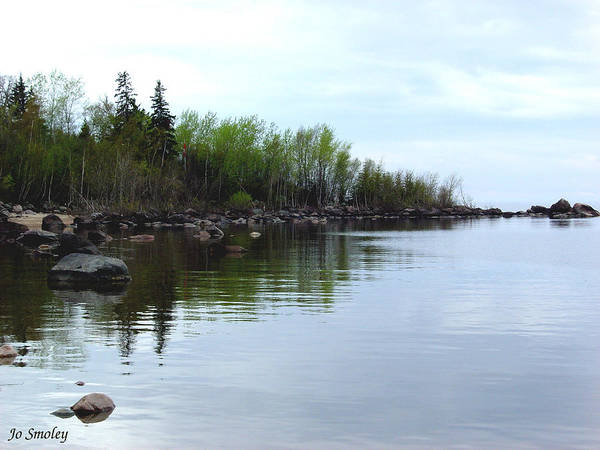 Grand Beach Shoreline Poster featuring the photograph Water Like Glass by Joanne Smoley