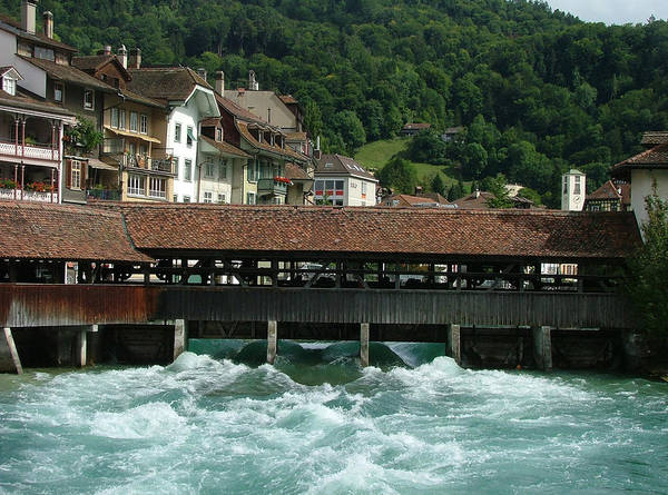 Landscape Poster featuring the photograph Water Power Lucerne by Nick Van Zutphen