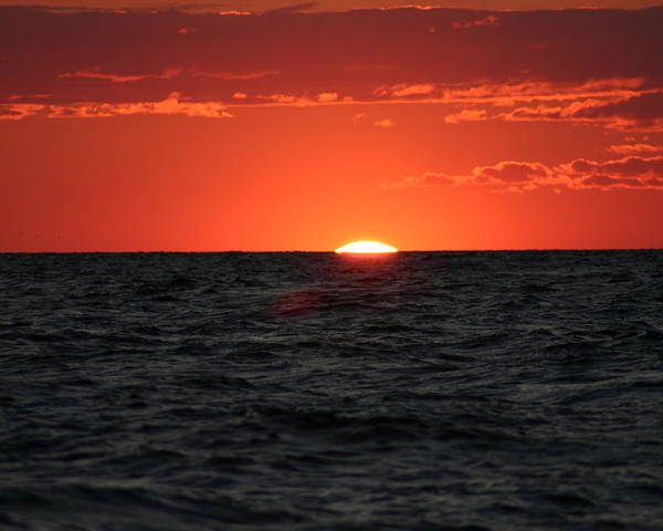 Sun Set Poster featuring the photograph Water Sun Set by Kevin Dunham