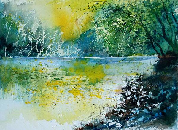 Pond Poster featuring the painting Watercolor 051108 by Pol Ledent