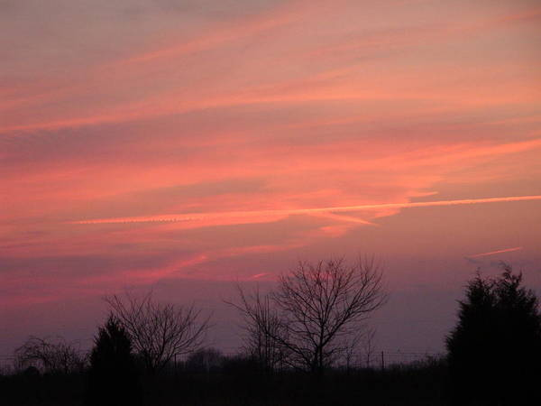 Sunset Poster featuring the photograph Watercolors In The Sky by Donna Holmberg