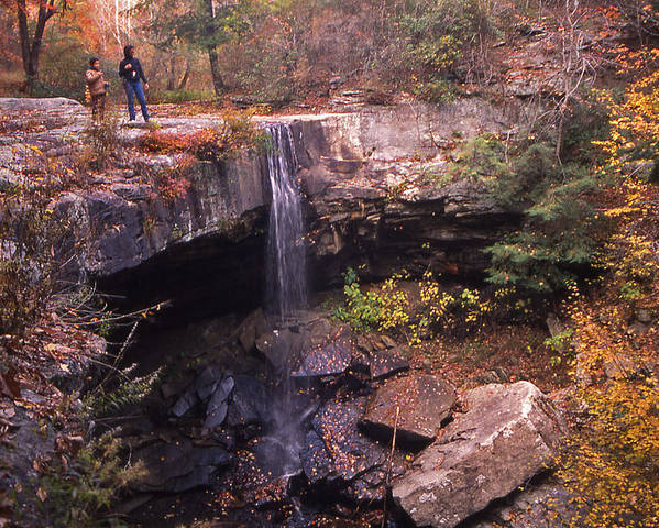 Tennessee Poster featuring the photograph Waterfall In Fall - 1 by Randy Muir