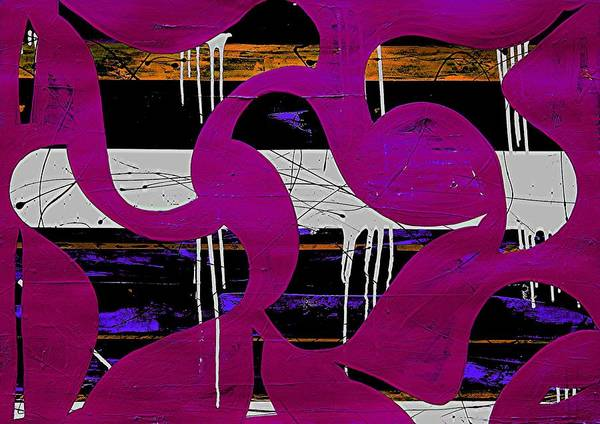 Abstract Prints Poster featuring the digital art Waterfowls 2 by Teo Santa