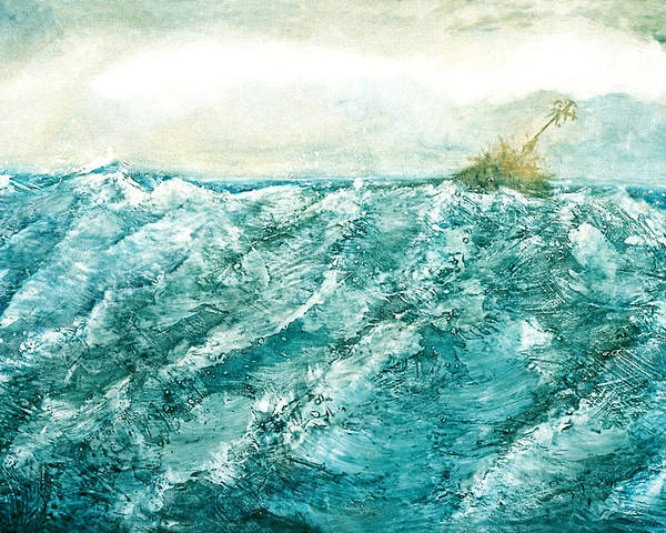Oil Painting Poster featuring the painting wave V by Martine Letoile