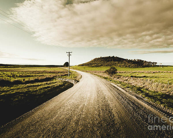 Road Poster featuring the photograph Way Out Yonder by Jorgo Photography - Wall Art Gallery