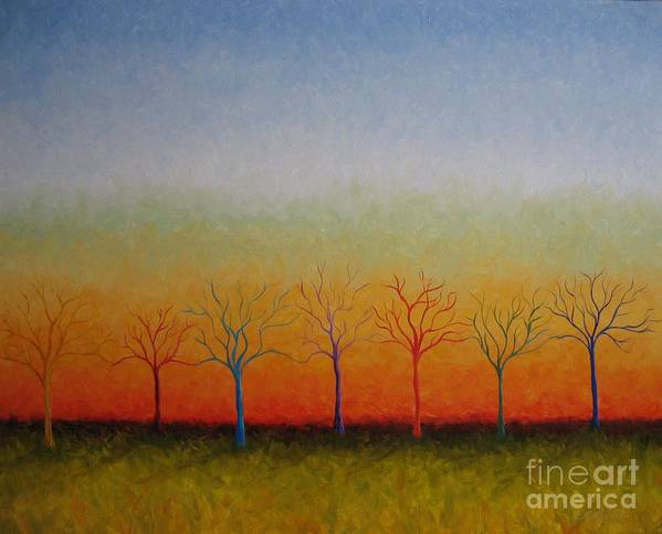 Trees Poster featuring the painting We are One by Colleen Murphy