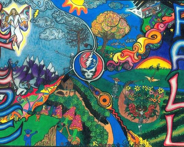 Grateful Dead Poster featuring the drawing Weather Report Suite by Steve Weber