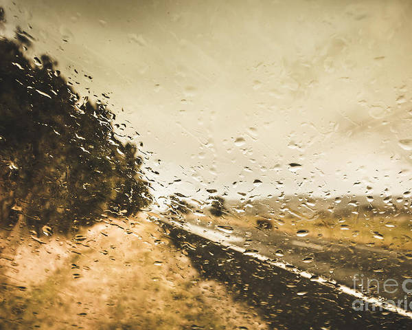 Driving Poster featuring the photograph Weather Roads by Jorgo Photography - Wall Art Gallery