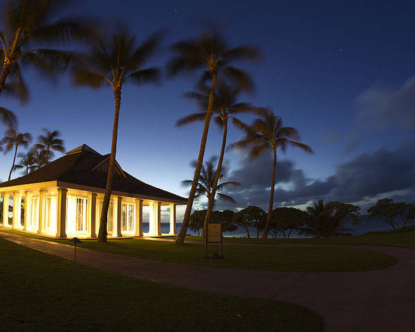 Sea Poster featuring the photograph Wedding Chapel At Turtle Bar Resort by Michael Sangiolo