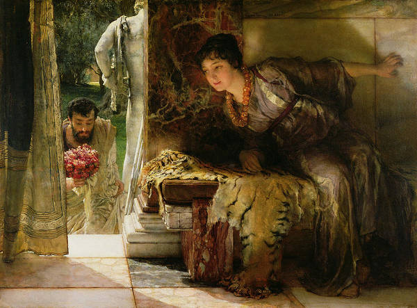 Welcome Poster featuring the painting Welcome Footsteps by Sir Lawrence Alma-Tadema