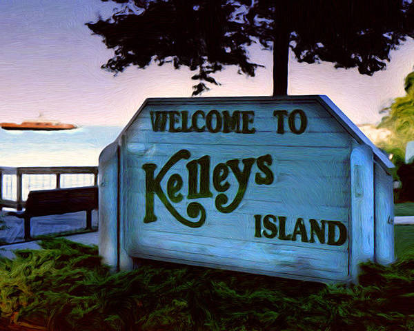 Island Poster featuring the painting Welcome To Kelleys Island by Kenneth Krolikowski