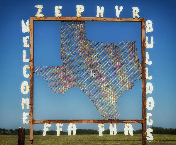 Zephyr Poster featuring the photograph Welcome To Zephyr Texas by Mountain Dreams