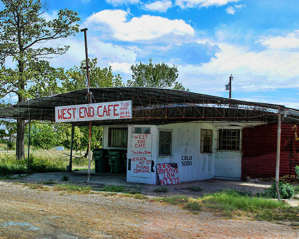 Cafe Poster featuring the photograph West End Cafe by Linda Phelps