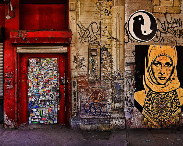 Graffitti Poster featuring the photograph West Village Wall Nyc by Chris Lord