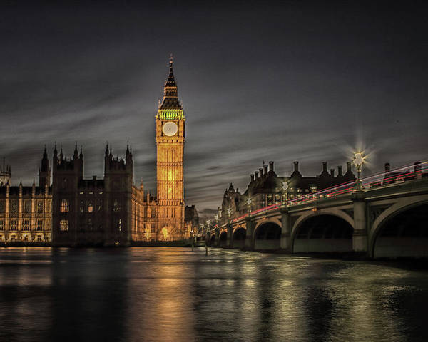 London Poster featuring the photograph Westminster At Night by Martin Newman