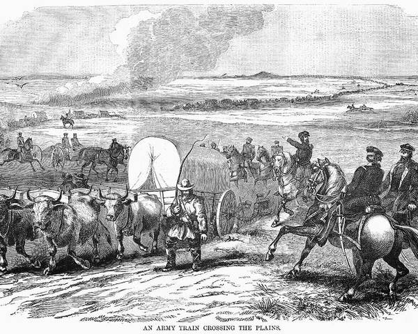 1858 Poster featuring the photograph Westward Expansion, 1858 by Granger