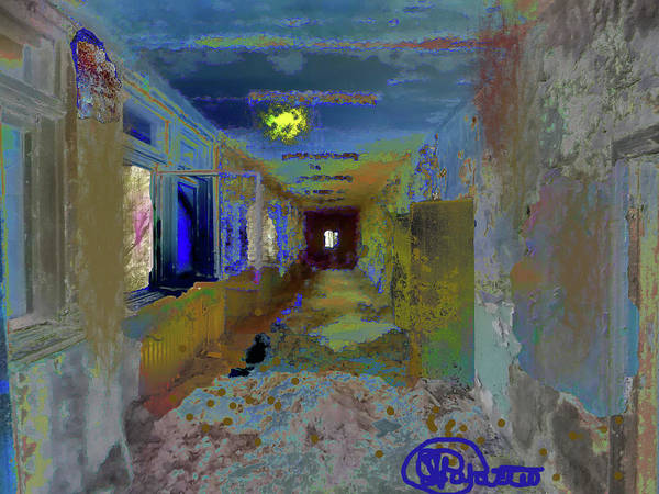 Stairs Poster featuring the digital art What Once Was by Charles Papaccio