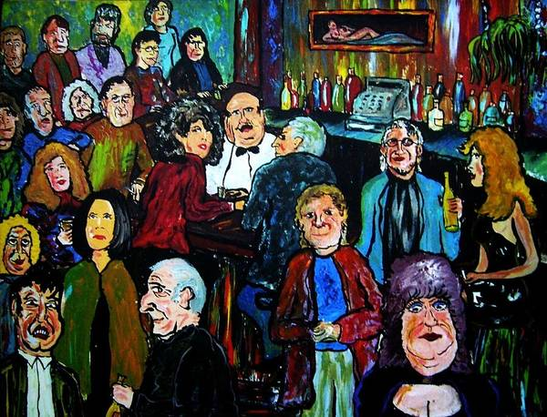 People Poster featuring the painting What Took You So Long by Richard Hubal