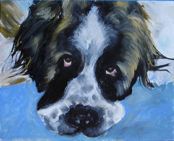 Dog Poster featuring the painting Whats Up by Laura Leigh McCall
