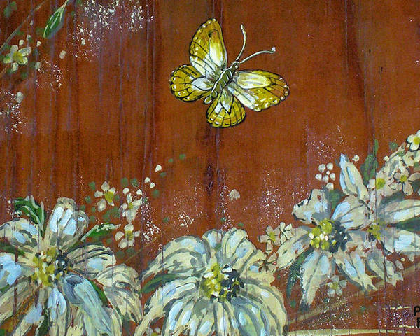 Wildflowers Poster featuring the painting Wheat 'n' Wildflowers IIi by Phyllis Mae Richardson Fisher