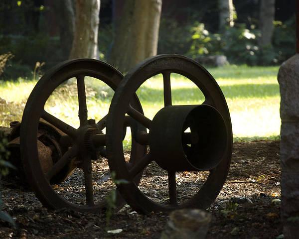 Wheel Poster featuring the photograph Wheels Of War-spanish American War Artifacts by Faith Harron Boudreau
