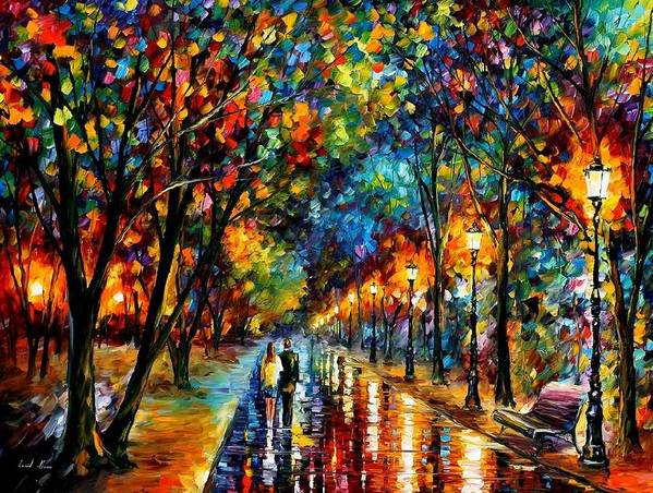 Landscape Poster featuring the painting When Dreams Come True by Leonid Afremov