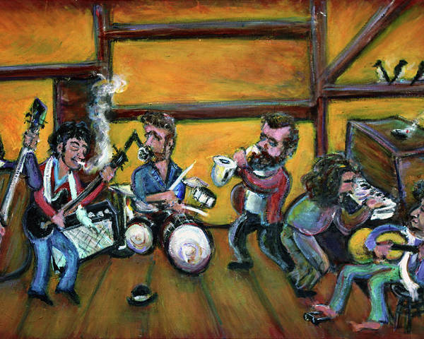 The Band Poster featuring the painting When I Paint My Masterpiece by Jason Gluskin