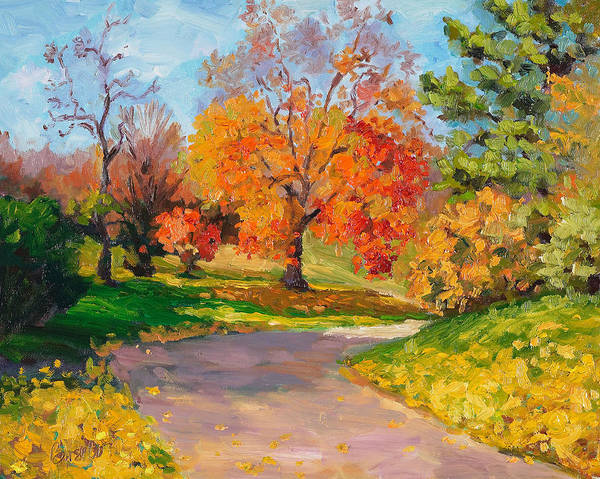 Autumn Poster featuring the painting When October Goes by Kathy Busillo