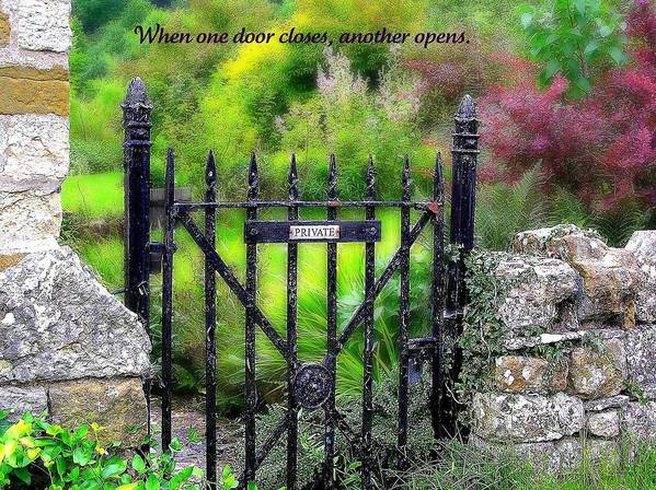 Affirmation Poster featuring the photograph When One Door Closes by Jen White