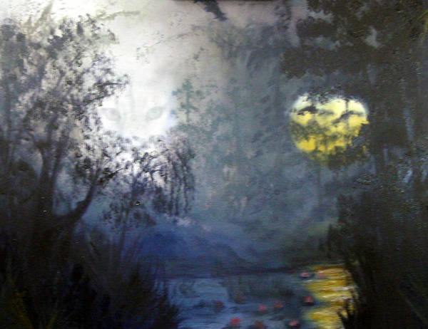 Swamp Poster featuring the painting Where Are We To Go by Darlene Green