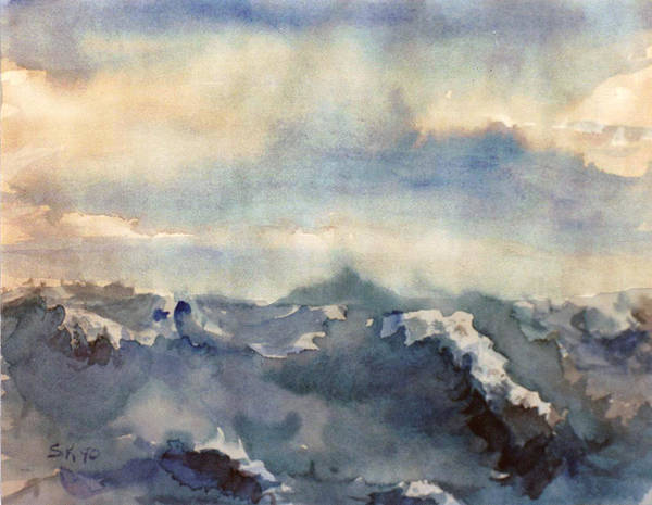 Seascape Poster featuring the painting Where Sky Meets Ocean by Steve Karol