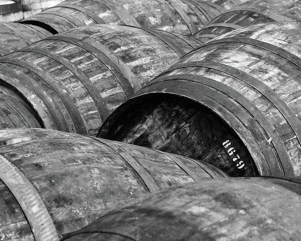 Horizontal Poster featuring the photograph Whisky Barrels by (C)Andrew Hounslea
