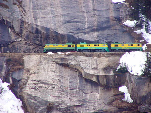 Train Poster featuring the photograph White Horse Pass by Kenna Westerman