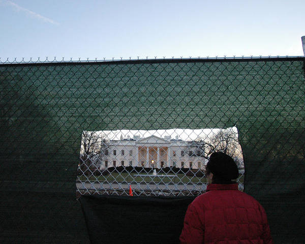 Washington Dc Poster featuring the photograph White House Fence Washington Dc by Thomas Michael Corcoran