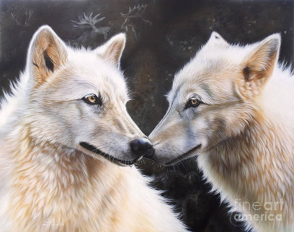 Acrylic Poster featuring the painting White Magic by Sandi Baker