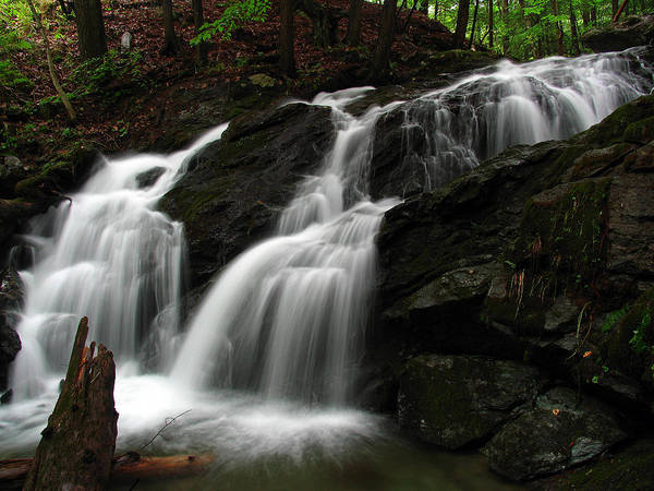 Waterfall Poster featuring the photograph White Mountains Waterfall by Juergen Roth