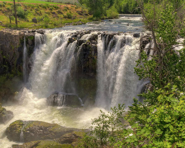 2011 Poster featuring the photograph White River Falls by Connie Cooper-Edwards