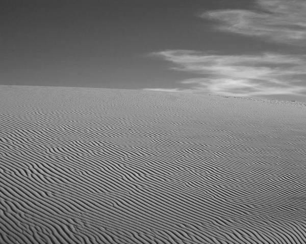 Black & White Poster featuring the photograph White Sands Dune by Peter Tellone