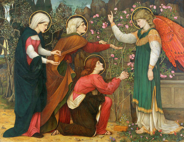 Organ Poster featuring the painting Why Seek Ye The Living? by Roddam Spencer Stanhope