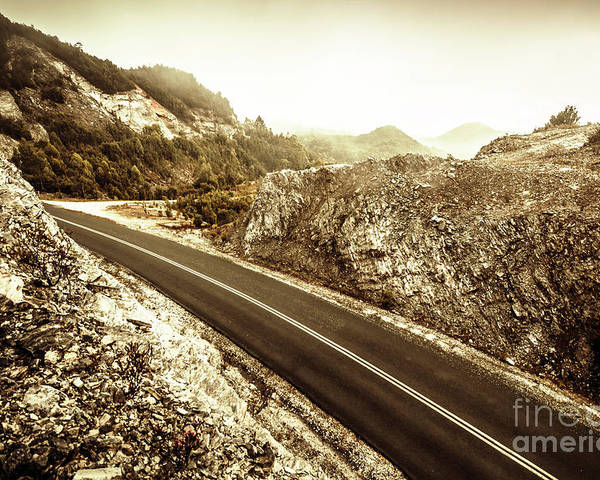 Landscape Poster featuring the photograph Wild Highland Road by Jorgo Photography - Wall Art Gallery