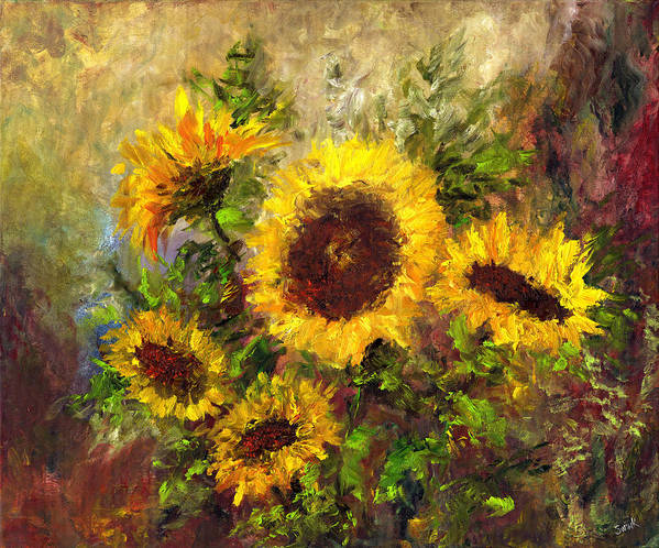 Vincent Van Gogh Poster featuring the painting Wild Sun by Laura Swink