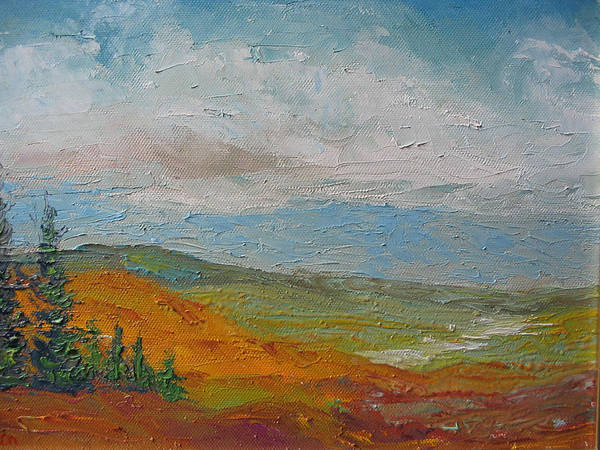 Landscape Poster featuring the painting Wilderness by Belinda Consten