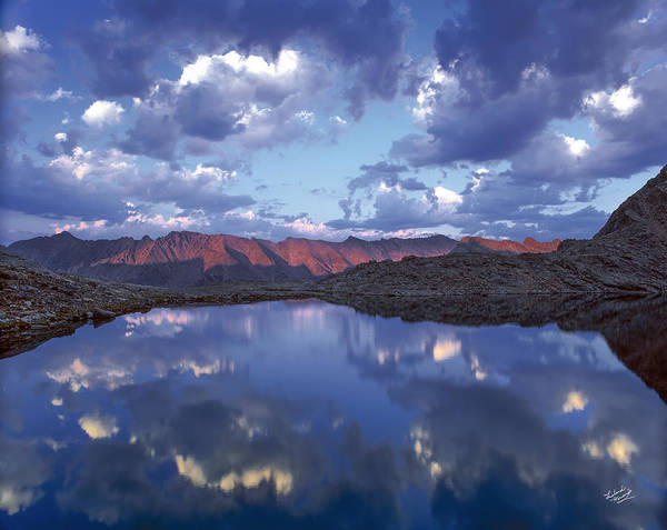 Altitude Poster featuring the photograph Wildhorse Lake by Leland D Howard