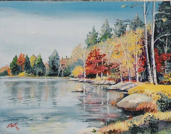 Landscape Poster featuring the painting Williams Lake by Barry Smith