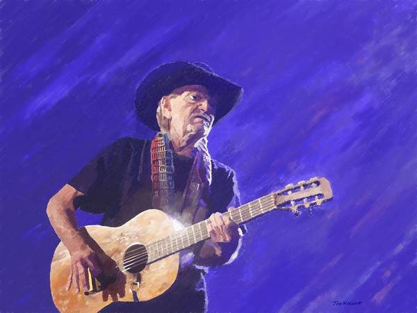 Willie Nelson Poster featuring the painting Willie Nelson by Tod Wallace