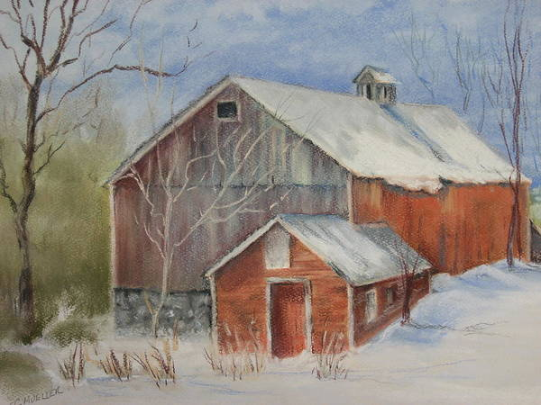 Barn Poster featuring the painting Williston Barn by Carol Mueller