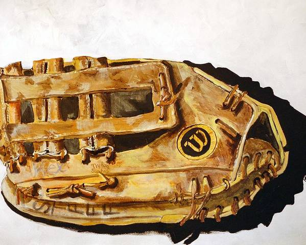 Baseball Poster featuring the painting Wilson Staff Pro by Jame Hayes