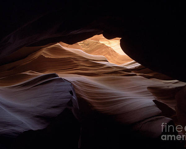 Antelope Canyon Poster featuring the photograph Wind And Water by Kathy McClure